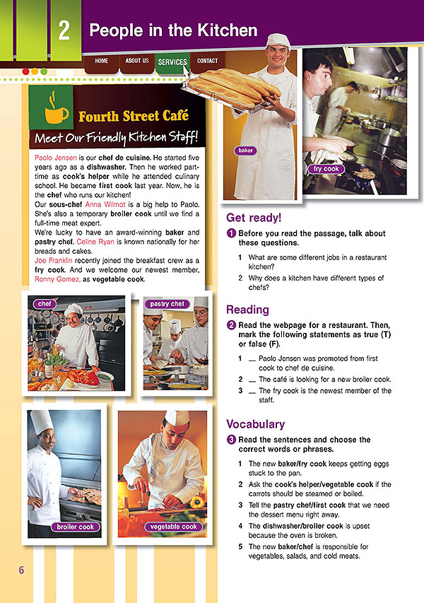 Sample Page 3 - Career Paths: Cooking